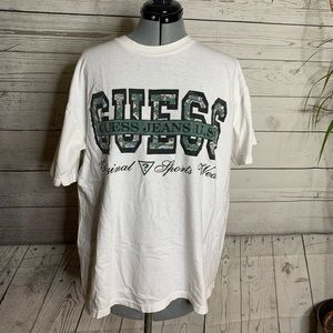 Vintage 90s Guess Jeans USA Graphic Tee Shirt